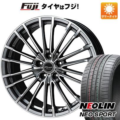 タイヤはフジ 送料無料 MONZA モンツァ ワーウィック アデッサー 7J 7.00-17 NEOLIN ネオリン ネオスポーツ(限定) 215/45R17 17インチ サマータイヤ ホイール4本セット