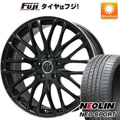 タイヤはフジ 送料無料 PREMIX プレミックス グラッパ(ブラック/リムポリッシュ) 7.5J 7.50-19 NEOLIN ネオリン ネオスポーツ(限定) 245/45R19 19インチ サマータイヤ ホイール4本セット