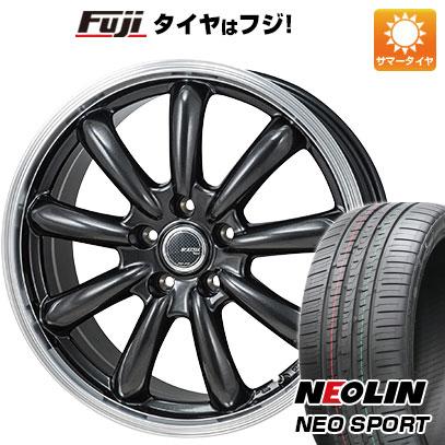 タイヤはフジ 送料無料 MONZA モンツァ JPスタイル バーニー 7J 7.00-17 NEOLIN ネオリン ネオスポーツ(限定) 215/45R17 17インチ サマータイヤ ホイール4本セット