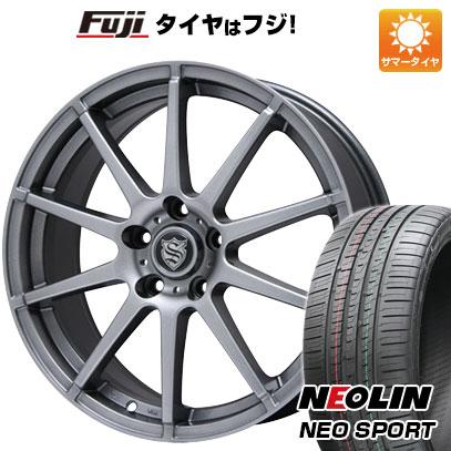 タイヤはフジ 送料無料 BRANDLE ブランドル 562 7.5J 7.50-18 NEOLIN ネオリン ネオスポーツ(限定) 225/40R18 18インチ サマータイヤ ホイール4本セット