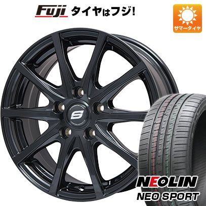 タイヤはフジ 送料無料 BRANDLE ブランドル M71B 7J 7.00-17 NEOLIN ネオリン ネオスポーツ(限定) 215/45R17 17インチ サマータイヤ ホイール4本セット