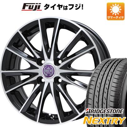 タイヤはフジ 送料無料 LEHRMEISTER レアマイスター ソライアV7 4.5J 4.50-14 BRIDGESTONE ブリヂストン NEXTRY ネクストリー(限定) 155/65R14 14インチ サマータイヤ ホイール4本セット