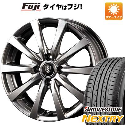 タイヤはフジ 送料無料 MID ユーロスピード G10 4.5J 4.50-14 BRIDGESTONE ブリヂストン NEXTRY ネクストリー(限定) 155/65R14 14インチ サマータイヤ ホイール4本セット