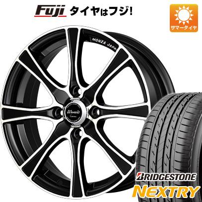 タイヤはフジ 送料無料 MONZA モンツァ ワーウィック カロッツァ 5J 5.00-16 BRIDGESTONE ブリヂストン NEXTRY ネクストリー(限定) 165/50R16 16インチ サマータイヤ ホイール4本セット