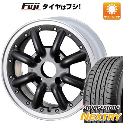 タイヤはフジ 送料無料 WATANABE ワタナベ New RS8 5J 5.00-14 BRIDGESTONE ブリヂストン NEXTRY ネクストリー(限定) 155/65R14 14インチ サマータイヤ ホイール4本セット