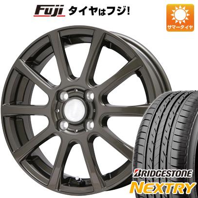 タイヤはフジ 送料無料 BRANDLE ブランドル 565Z 4.5J 4.50-14 BRIDGESTONE ブリヂストン NEXTRY ネクストリー(限定) 155/65R14 14インチ サマータイヤ ホイール4本セット