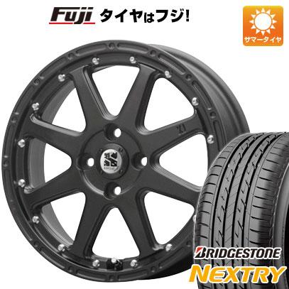 タイヤはフジ 送料無料 MLJ エクストリームJ 4.5J 4.50-15 BRIDGESTONE ブリヂストン NEXTRY ネクストリー(限定) 165/50R15 15インチ サマータイヤ ホイール4本セット