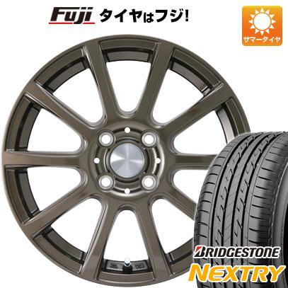 7/25はエントリーでポイント15倍 タイヤはフジ 送料無料 カジュアルセット タイプB17 ブロンズ 4J 4.00-13 BRIDGESTONE ブリヂストン NEXTRY ネクストリー(限定) 145/80R13 13インチ サマータイヤ ホイール4本セット
