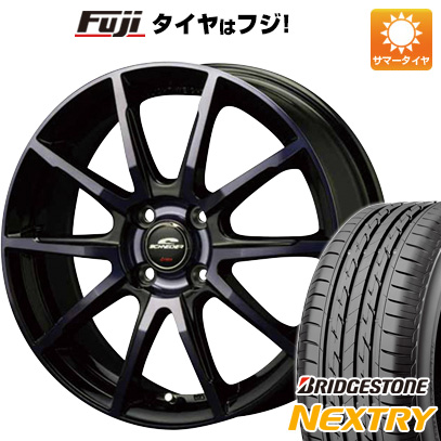 タイヤはフジ 送料無料 MID シュナイダー DR-01 4.5J 4.50-14 BRIDGESTONE ブリヂストン NEXTRY ネクストリー(限定) 155/65R14 14インチ サマータイヤ ホイール4本セット