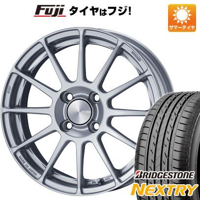 タイヤはフジ 送料無料 ENKEI エンケイ PF03 5J 5.00-15 BRIDGESTONE ブリヂストン NEXTRY ネクストリー(限定) 165/55R15 15インチ サマータイヤ ホイール4本セット