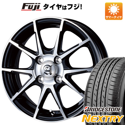 タイヤはフジ 送料無料 TECHNOPIA テクノピア アドニス JXS 4.5J 4.50-14 BRIDGESTONE ブリヂストン NEXTRY ネクストリー(限定) 155/65R14 14インチ サマータイヤ ホイール4本セット