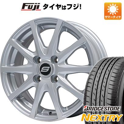 タイヤはフジ 送料無料 BRANDLE ブランドル M71 4.5J 4.50-15 BRIDGESTONE ブリヂストン NEXTRY ネクストリー(限定) 165/50R15 15インチ サマータイヤ ホイール4本セット