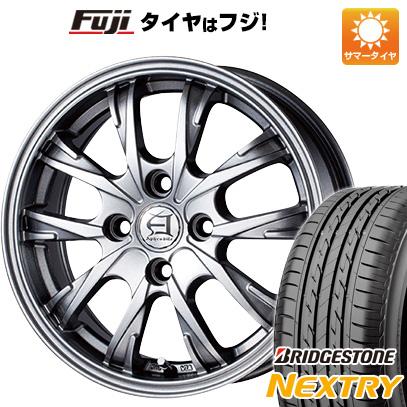 タイヤはフジ 送料無料 TECHNOPIA テクノピア アフロディーテ GX 5J 5.00-15 BRIDGESTONE ブリヂストン NEXTRY ネクストリー(限定) 165/55R15 15インチ サマータイヤ ホイール4本セット