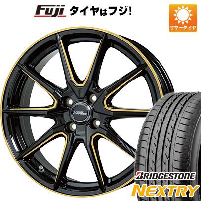 タイヤはフジ 送料無料 HOT STUFF ホットスタッフ クロススピード プレミアムRS10 シングルマシニング 4.5J 4.50-15 BRIDGESTONE ブリヂストン NEXTRY ネクストリー(限定) 165/50R15 15インチ サマータイヤ ホイール4本セット