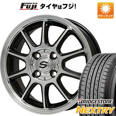 タイヤはフジ 送料無料 BRANDLE ブランドル Z01B 4J 4.00-13 145/80R13 13インチ BRIDGESTONE NEXTRY ネクストリー(限定) サマータイヤ ホイール4本セット