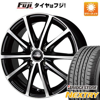 タイヤはフジ 送料無料 MID ユーロスピード V25 4.5J 4.50-14 BRIDGESTONE ブリヂストン NEXTRY ネクストリー(限定) 155/65R14 14インチ サマータイヤ ホイール4本セット