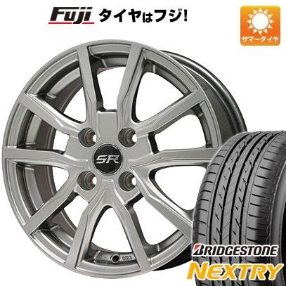 タイヤはフジ 送料無料 BRANDLE ブランドル N52 4.5J 4.50-15 BRIDGESTONE ブリヂストン NEXTRY ネクストリー(限定) 165/50R15 15インチ サマータイヤ ホイール4本セット