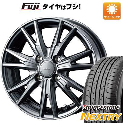 タイヤはフジ 送料無料 WEDS ウェッズ ヴェルバ ケヴィン 4.5J 4.50-15 BRIDGESTONE ブリヂストン NEXTRY ネクストリー(限定) 165/55R15 15インチ サマータイヤ ホイール4本セット