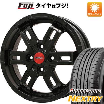 タイヤはフジ 送料無料 BIGWAY ビッグウエイ B-MUD Z(マットブラック) 4.5J 4.50-15 BRIDGESTONE ブリヂストン NEXTRY ネクストリー(限定) 165/55R15 15インチ サマータイヤ ホイール4本セット
