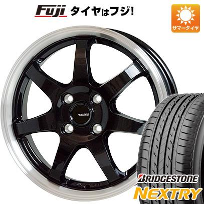 タイヤはフジ 送料無料 HOT STUFF ホットスタッフ ジースピード P-03 4.5J 4.50-14 BRIDGESTONE ブリヂストン NEXTRY ネクストリー(限定) 155/65R14 14インチ サマータイヤ ホイール4本セット
