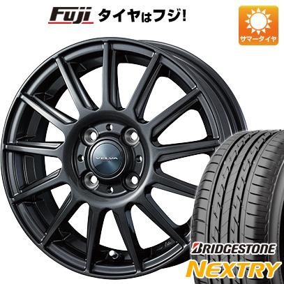 タイヤはフジ 送料無料 WEDS ウェッズ ヴェルバ イゴール 4.5J 4.50-15 BRIDGESTONE ブリヂストン NEXTRY ネクストリー(限定) 165/55R15 15インチ サマータイヤ ホイール4本セット
