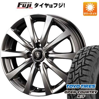 タイヤはフジ 送料無料 MID ユーロスピード G10 4J 4.00-12 TOYO OPEN COUNTRY R/T 80/78N 145/80R12 12インチ サマータイヤ ホイール4本セット