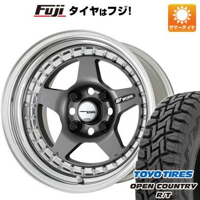 タイヤはフジ 送料無料 WORK マイスター CR01 7J 7.00-16 TOYO OPEN COUNTRY R/T 215/70R16 16インチ サマータイヤ ホイール4本セット