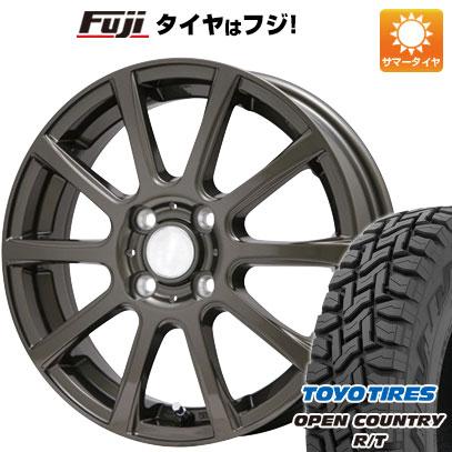 タイヤはフジ 送料無料 BRANDLE ブランドル 565Z 3.5J 3.50-12 TOYO OPEN COUNTRY R/T 80/78N 145/80R12 12インチ サマータイヤ ホイール4本セット