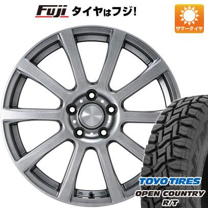 タイヤはフジ 送料無料 カジュアルセット タイプB17 メタリックグレー 6.5J 6.50-16 TOYO OPEN COUNTRY R/T 215/70R16 16インチ サマータイヤ ホイール4本セット