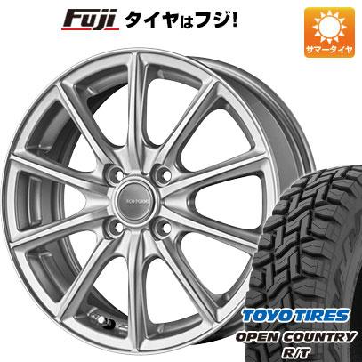 タイヤはフジ 送料無料 BRIDGESTONE ブリヂストン エコフォルム SE-15 4.5J 4.50-15 TOYO OPEN COUNTRY R/T 165/60R15 15インチ サマータイヤ ホイール4本セット