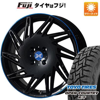 タイヤはフジ 送料無料 PREMIX プレミックス バリック パールブラックブルークリア限定 4.5J 4.50-15 TOYO OPEN COUNTRY R/T 165/60R15 15インチ サマータイヤ ホイール4本セット