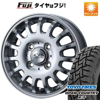タイヤはフジ 送料無料 WEDS ウェッズ ビセンテ 04 CA スズキ キャリー専用 3.5J 3.50-12 TOYO OPEN COUNTRY R/T 80/78N 145/80R12 12インチ サマータイヤ ホイール4本セット