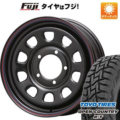 タイヤはフジ 送料無料 ジムニーシエラ MLJ デイトナSS 6J 6.00-16 TOYO OPEN COUNTRY R/T 215/70R16 16インチ サマータイヤ ホイール4本セット