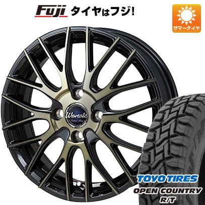 タイヤはフジ 送料無料 MONZA モンツァ ワーウィック エンプレス メッシュ 4.5J 4.50-15 TOYO OPEN COUNTRY R/T 165/60R15 15インチ サマータイヤ ホイール4本セット