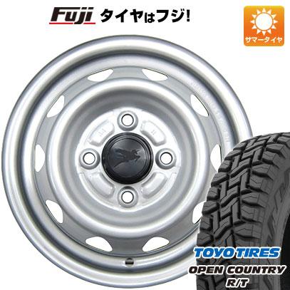 タイヤはフジ 送料無料 ELBE エルベ オリジナル スチール 3.5J 3.50-12 TOYO OPEN COUNTRY R/T 80/78N 145/80R12 12インチ サマータイヤ ホイール4本セット