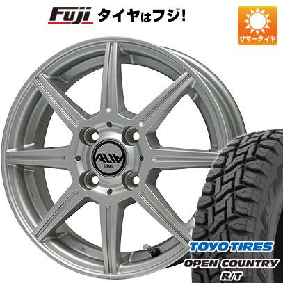 7/25はエントリーでポイント15倍 タイヤはフジ 送料無料 CLIMATE クライメイト アリア 3.5J 3.50-12 TOYO OPEN COUNTRY R/T 80/78N 145/80R12 12インチ サマータイヤ ホイール4本セット