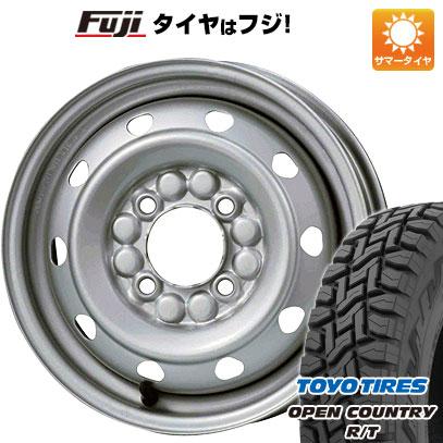 タイヤはフジ 送料無料 ELBE エルベ オリジナル スチール M51 4J 4.00-12 TOYO OPEN COUNTRY R/T 145/80R12 12インチ サマータイヤ ホイール4本セット