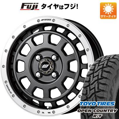 タイヤはフジ 送料無料 WORK ワーク クラッグ ティーグラビック 5J 5.00-15 TOYO OPEN COUNTRY R/T 165/60R15 15インチ サマータイヤ ホイール4本セット