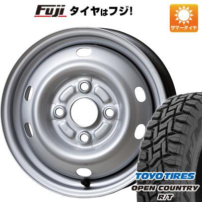 タイヤはフジ 送料無料 ELBE エルベ オリジナル スチール E47 4J 4.00-12 TOYO OPEN COUNTRY R/T 80/78N 145/80R12 12インチ サマータイヤ ホイール4本セット