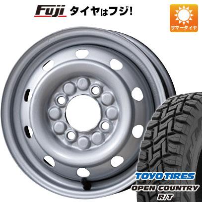 タイヤはフジ 送料無料 ELBE エルベ オリジナル スチール M74 3.5J 3.50-12 TOYO OPEN COUNTRY R/T 80/78N 145/80R12 12インチ サマータイヤ ホイール4本セット