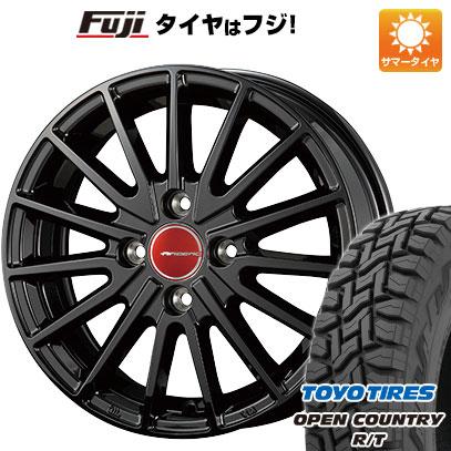 タイヤはフジ 送料無料 KOSEI コーセイ エアベルグ ゼノン 4.5J 4.50-15 TOYO OPEN COUNTRY R/T 165/60R15 15インチ サマータイヤ ホイール4本セット