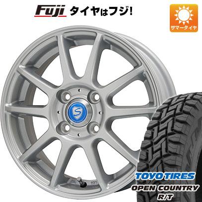 タイヤはフジ 送料無料 BRANDLE ブランドル 302 4J 4.00-12 TOYO OPEN COUNTRY R/T 145/80R12 12インチ サマータイヤ ホイール4本セット