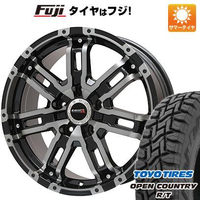 タイヤはフジ 送料無料 BIGWAY ビッグウエイ B-MUD Z(ブラックポリッシュ/ブラッククリア) 7J 7.00-16 TOYO OPEN COUNTRY R/T 215/70R16 16インチ サマータイヤ ホイール4本セット