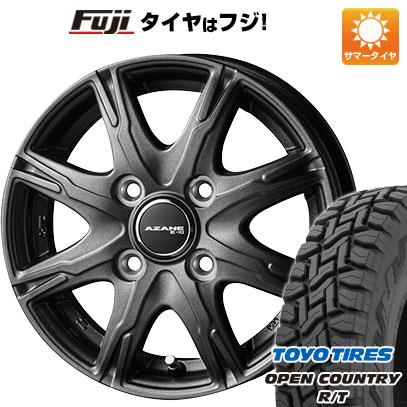 タイヤはフジ 送料無料 TOPY トピー アザーネ E10 3.5J 3.50-12 TOYO OPEN COUNTRY R/T 145/80R12 12インチ サマータイヤ ホイール4本セット