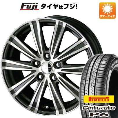 タイヤはフジ 送料無料 KYOHO 共豊 スマック スパロー 7J 7.00-17 PIRELLI チンチュラートP6 215/50R17 17インチ サマータイヤ ホイール4本セット