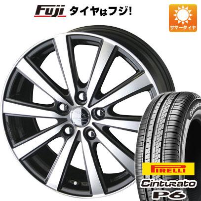 8月 2・5・8日はポイント倍増! タイヤはフジ 送料無料 KYOHO 共豊 スマック VI-R 7J 7.00-17 PIRELLI チンチュラートP6 215/50R17 17インチ サマータイヤ ホイール4本セット