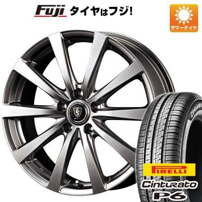 タイヤはフジ 送料無料 MID ユーロスピード G10 6J 6.00-15 PIRELLI チンチュラートP6 175/65R15 15インチ サマータイヤ ホイール4本セット
