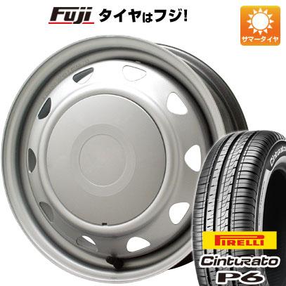 タイヤはフジ 送料無料 ELBE エルベ オリジナル スチール 5.5J 5.50-14 PIRELLI チンチュラートP6 175/65R14 14インチ サマータイヤ ホイール4本セット
