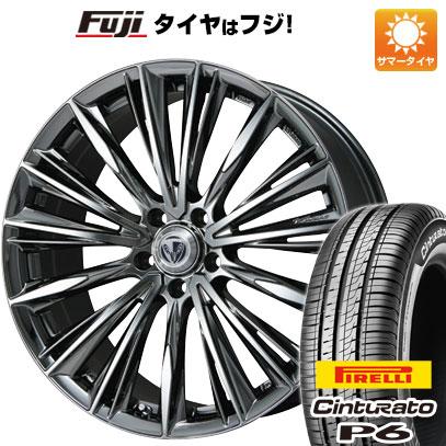 タイヤはフジ 送料無料 VERSUS ベルサス ストラテジーア ヴォウジェ 7J 7.00-17 PIRELLI チンチュラートP6 205/50R17 17インチ サマータイヤ ホイール4本セット
