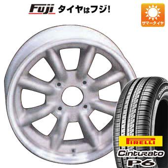 タイヤはフジ 送料無料 WATANABE ワタナベ エイトスポーク 6.5J 6.50-15 PIRELLI チンチュラートP6 185/60R15 15インチ サマータイヤ ホイール4本セット